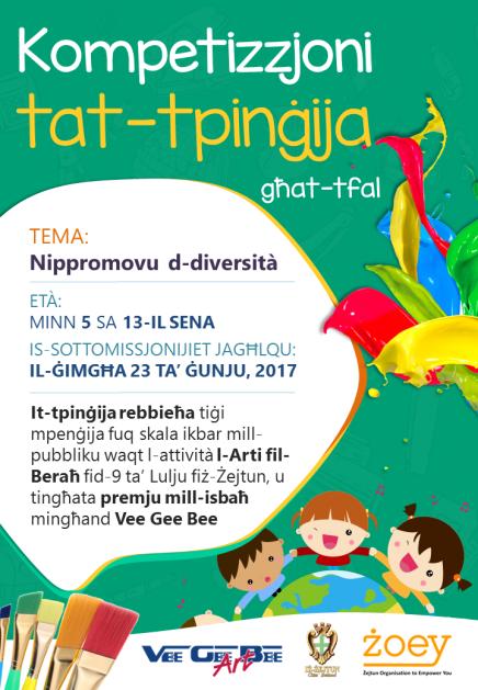 Kompetizzjoni tat-Tpinġija għat-Tfal - Powster 01