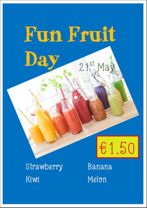 fruit day poster
